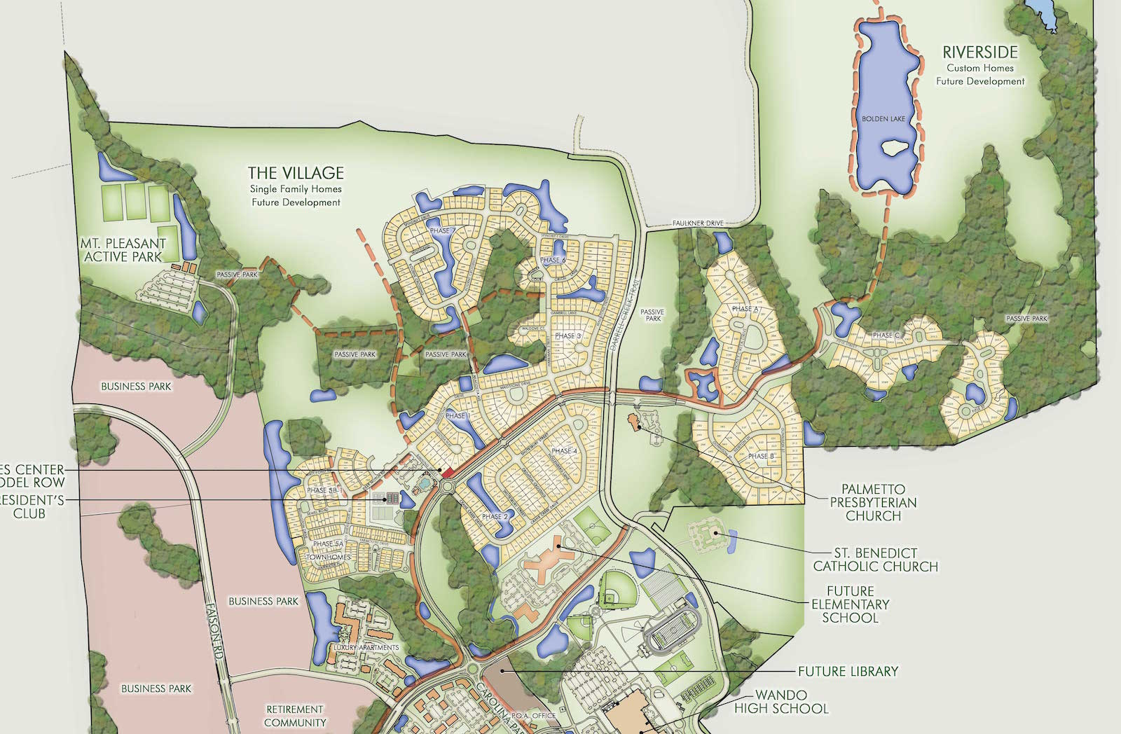 Carolina Park Mount Pleasant SC Master Plan Map
