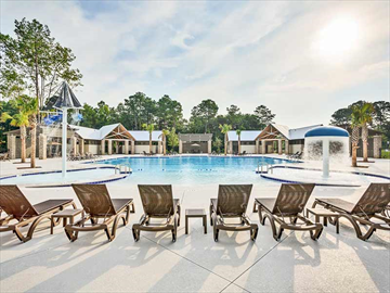 Lounge chairs at Carolina Park community pool | South Carolina